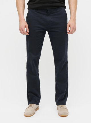 Pantaloni albastru inchis chino straight Burton Menswear London