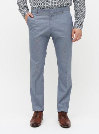 Modré oblekové slim fit nohavice Selected Homme Freesum