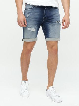 Pantaloni scurti albastru inchis din denim Jack & Jones Rick Jicon