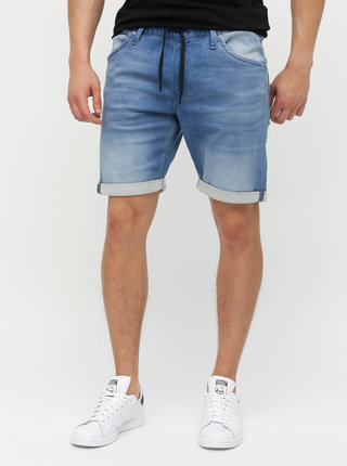 Pantaloni scurti albastri din denim Jack & Jones Jirick Dash
