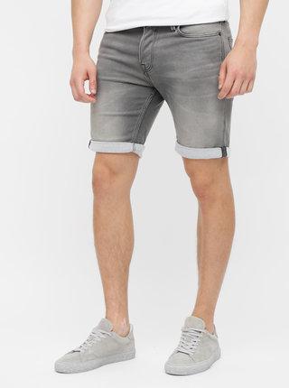 Pantaloni scurti gri regular fit din denim Jack & Jones Rick