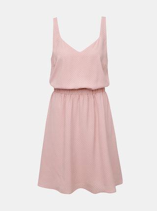 Růžové vzorované šaty VILA Laia