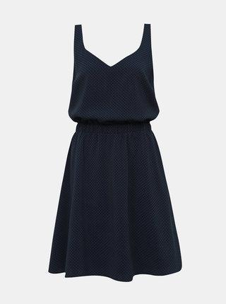 Tmavě modré vzorované šaty VILA Laia