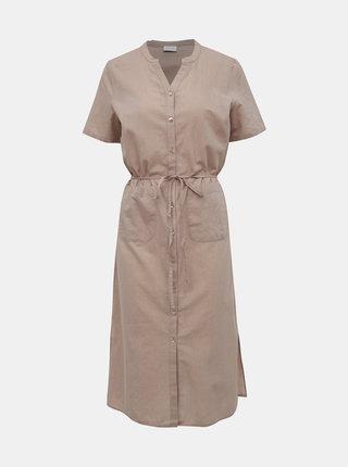 Béžové šaty VILA Nelia