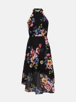 Černé květované šaty Mela London