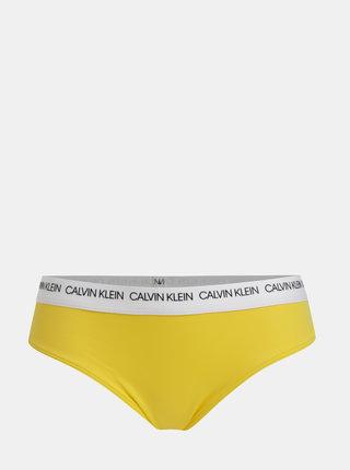 Žltý dámsky spodný diel plaviek Calvin Klein Underwear