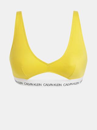 Žltý dámsky vrchný diel plaviek Calvin Klein Underwear