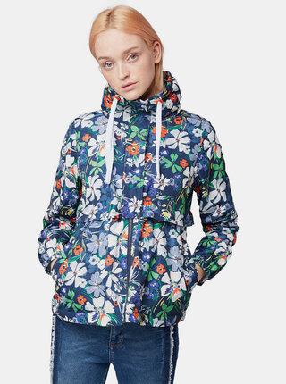 Jacheta albastru inchis florala de dama Tom Tailor Denim