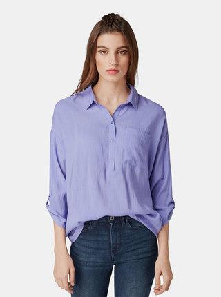 Bluza mov deschis cu buzunar Tom Tailor Denim