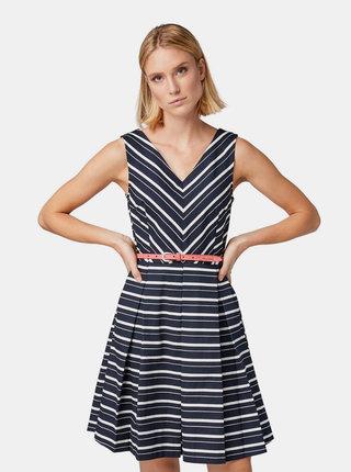 Tmavě modré pruhované šaty Tom Tailor