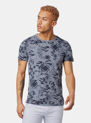 Modré pánske vzorované tričko Tom Tailor Denim