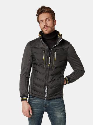 Čierna pánska nepremokavá bunda Tom Tailor