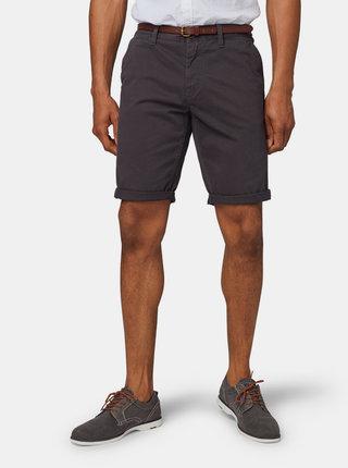 Pantaloni scurti barbatesti gri inchis slim fit chino Tom Tailor
