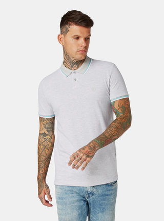 Tricou polo barbatesc gri Tom Tailor Denim