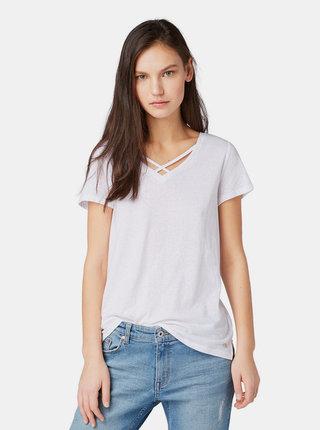 Bílé dámské tričko Tom Tailor Denim