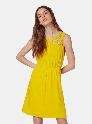 Žlté šaty Tom Tailor Denim