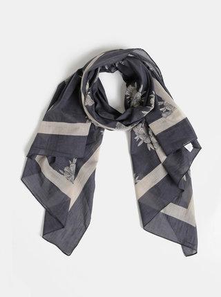 Šedý květovaný šátek Roxy