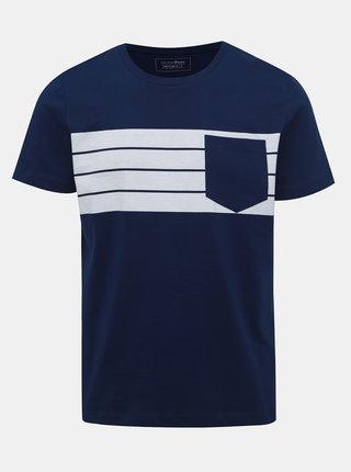 Tmavomodré pánske tričko s vreckom Tom Tailor Denim