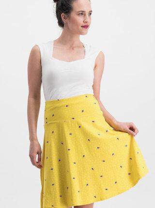 Žltá vzorovaná sukňa Blutsgeschwister Sei Vogelfrei