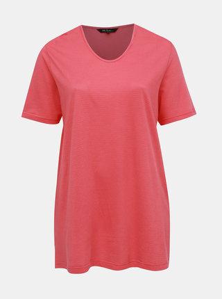 Ružové pruhované tričko Ulla Popken