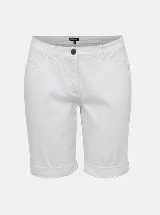 Pantaloni scurti albi Ulla Popken