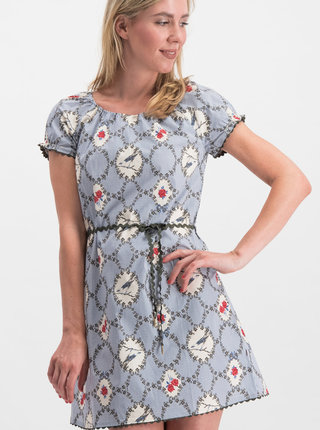 Rochie albastra cu model Blutsgeschwister Cowshed Romance