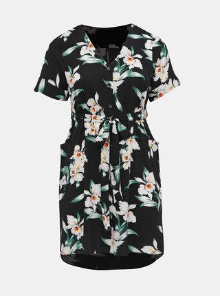 Černé květované košilové šaty Dorothy Perkins Curve
