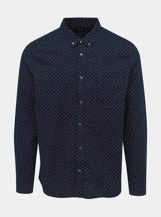 Tmavě modrá puntíkovaná košile Burton Menswear London
