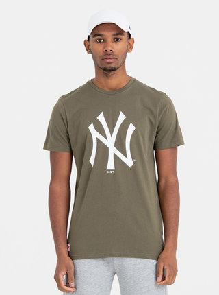 Kaki pánske tričko s potlačou New Era Neyyan