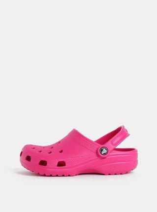 Papuci roz inchis de dama Crocs Classic Clog