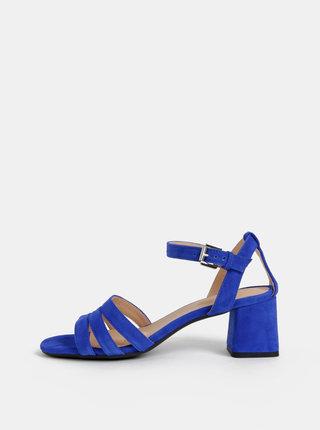 Sandale albastre de dama din piele intoarsa Geox Seyla