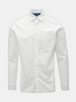 Camasa alba slim fit Jack & Jones Caleb