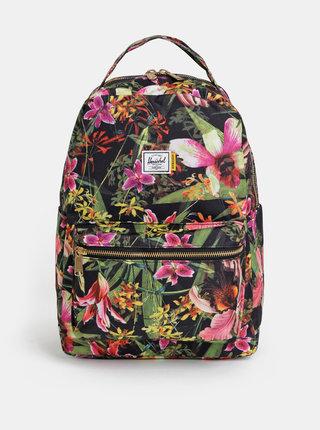 Zelený dámský květovaný batoh Herschel Supply Nova Mid-Volume 18 l
