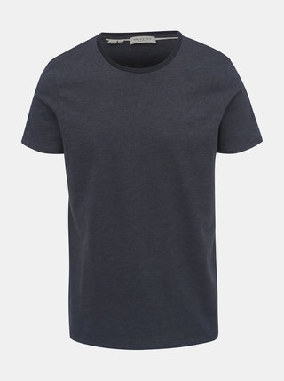 Tricou gri inchis cu model Selected Homme Pete