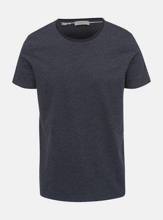 Tmavosivé vzorované tričko Selected Homme Pete
