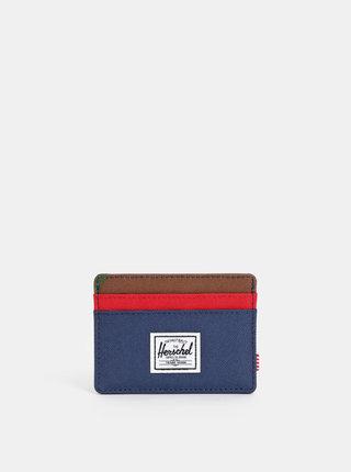 Portofel albastru pentru carduri Herschel Supply Charlie