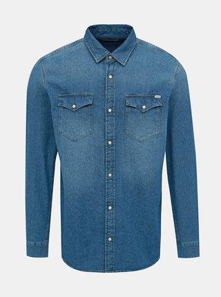 Modrá džínová slim fit košile Jack & Jones Heridan