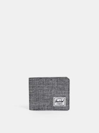 Sivá pánska melírovaná peňaženka Herschel Supply Roy