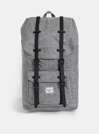 Šedý žíhaný batoh Herschel Supply Little America 25 l