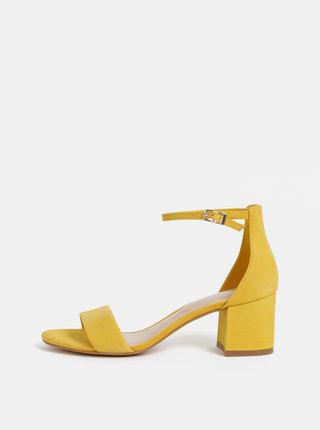 Žluté semišové sandálky ALDO