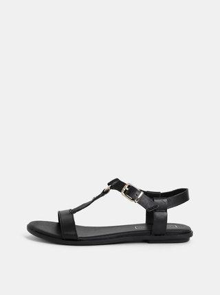 Čierne dámske kožené sandálky Tommy Hilfiger
