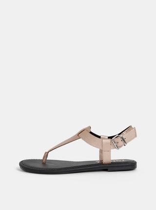 Dámské sandály v růžovozlaté barvě Tommy Hilfiger