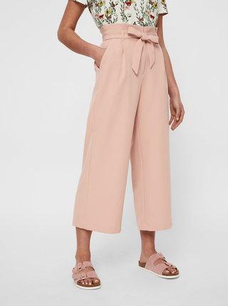 Pantaloni culottes roz VERO MODA Cococ