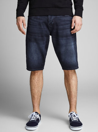 Pantaloni scurti albastru inchis regular fit din denim Jack & Jones Rick