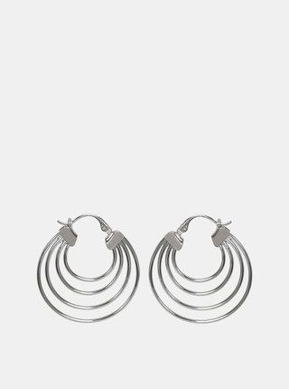 Kruhové náušnice ve stříbrné barvě Pieces Cecilia