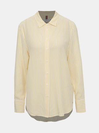 Žlutá dámská pruhovaná košile Tommy Hilfiger Fleur