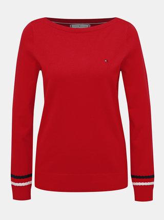Červený dámsky sveter Tommy Hilfiger New Ivy
