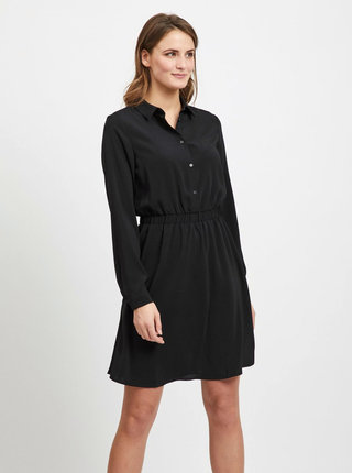 Černé košilové šaty VILA Laia