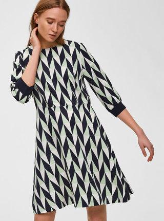 Tmavomodré vzorované šaty Selected Femme Rikki