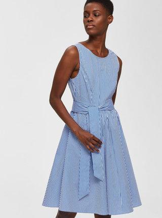 Bílo-modré pruhované šaty Selected Femme Jasona